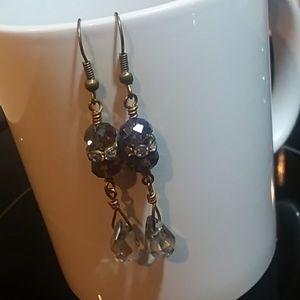 Smoky Swarovski Crystal Earrings